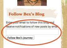 Follow Bex's Journey