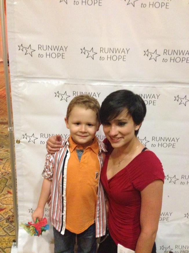 Bex with Joshua Chambers at the Runway to Hope Spring Fashion Soiree 2014.jpg