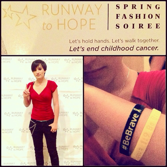 Bex at the Runway to Hope Spring Fashion Soiree 2014