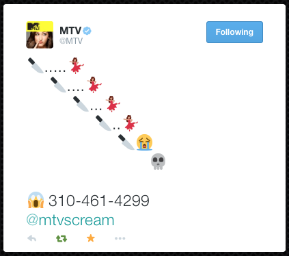 MTV Announcement came via this tweet at 4:00pm on 28 Oct 2014